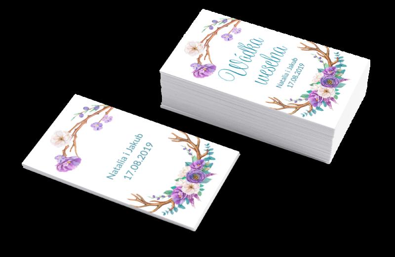 Szablon Etykieta na wódkę weselną Kwiatowy raj
