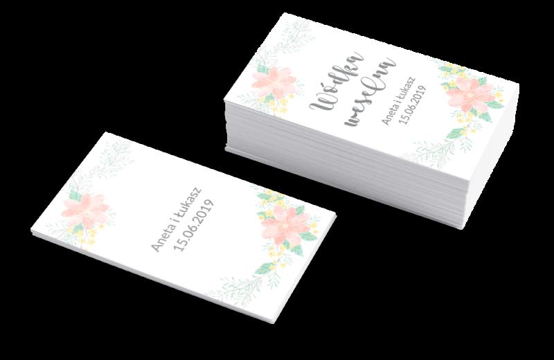Szablon Etykieta na wódkę weselną Pastelowe kwiaty
