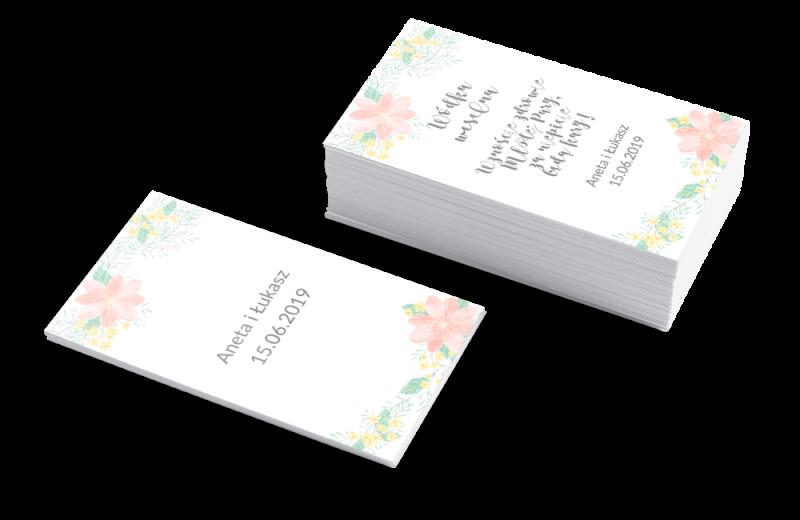 Szablon Zawieszki na wódkę weselną Pastelowe kwiaty
