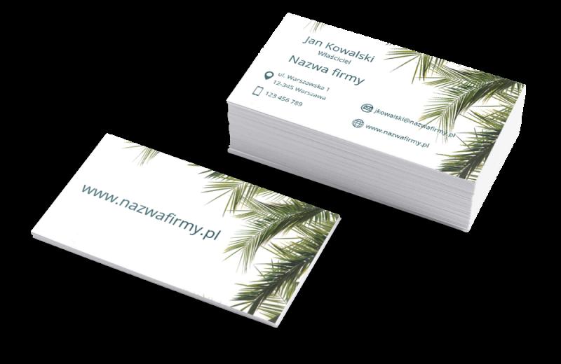 Szablon Zielone palmy