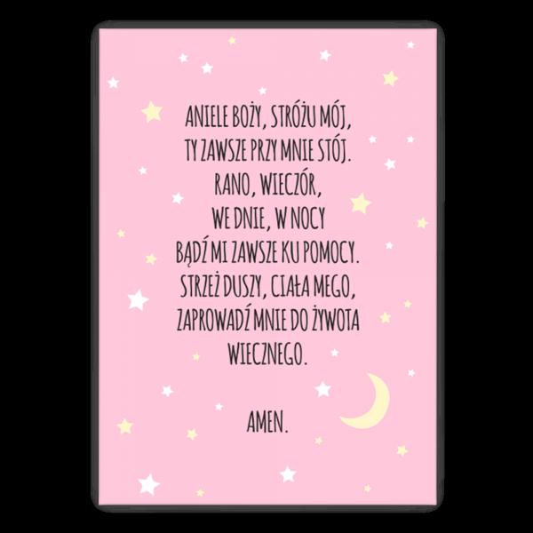 Szablon Aniele Boży - różowy