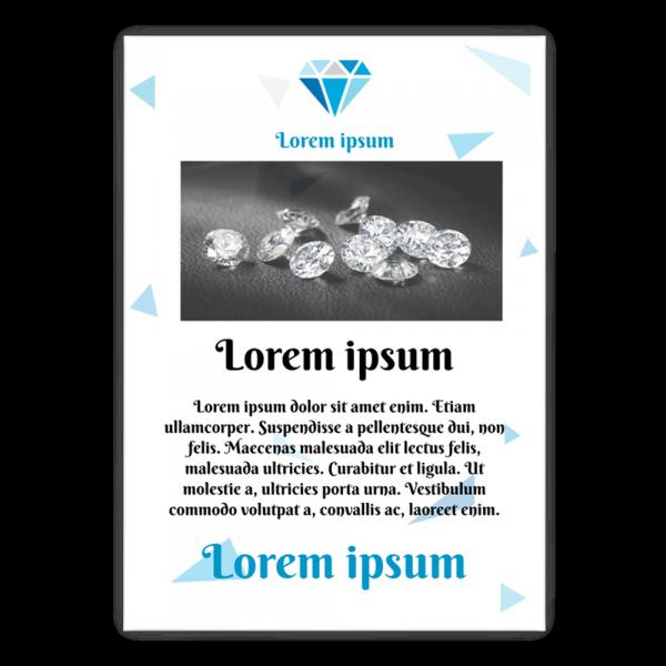 Szablon Niebieski diament