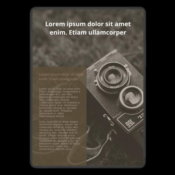 Szablon Old Camera