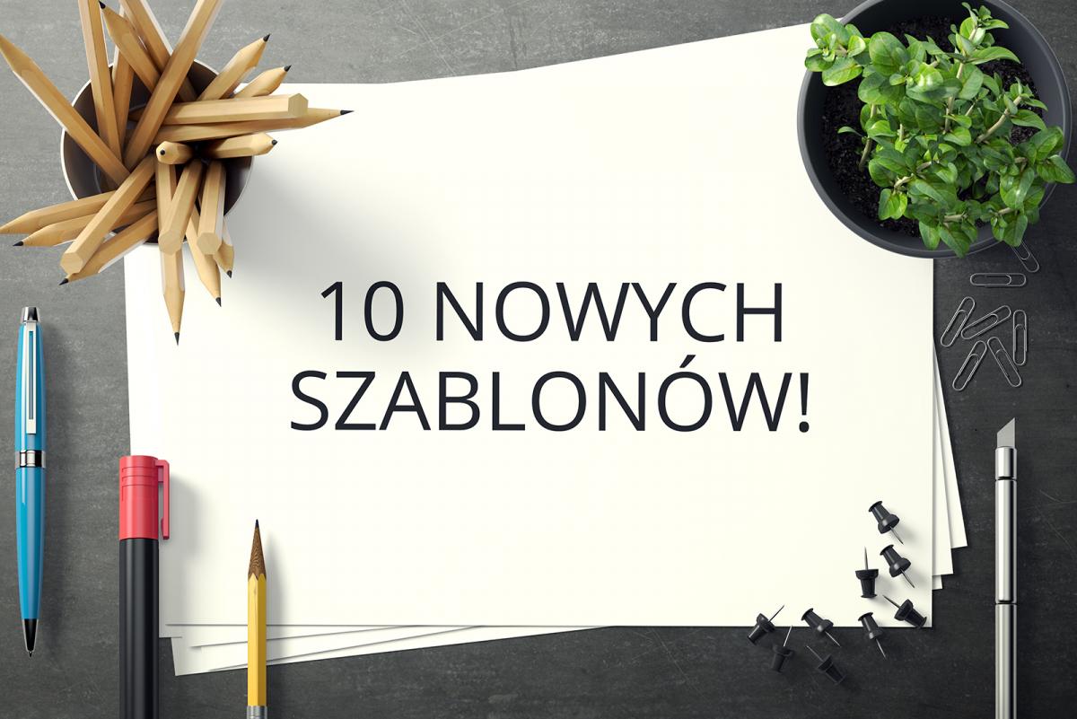 Nowe szablony wizytówki, ulotki i plakaty