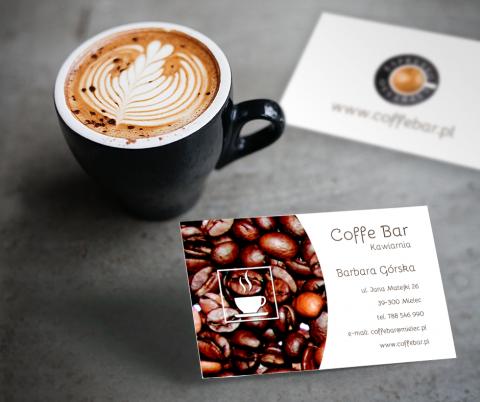 Wizytówka dla kawiarni